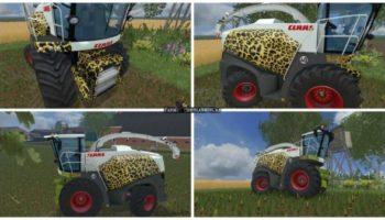 Мод комбайн Claas Jaguar 870 v 1.0 для Farming Simulator 2015