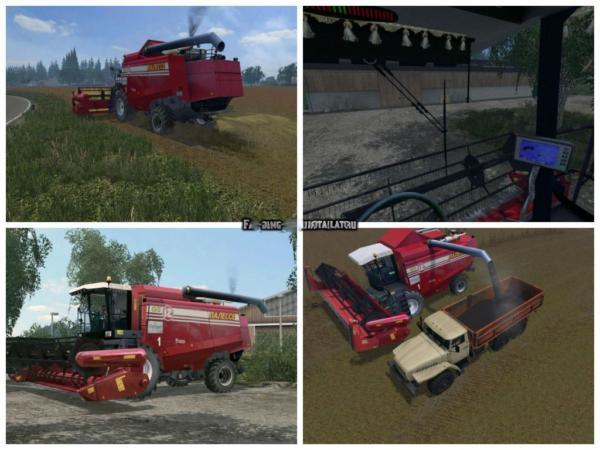 Мод комбайн Палессе GS-12 v 1.0 для Farming Simulator 2015