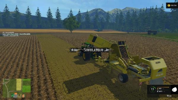Мод комбайн Ropa Keiler v 1.0 для Farming Simulator 2015