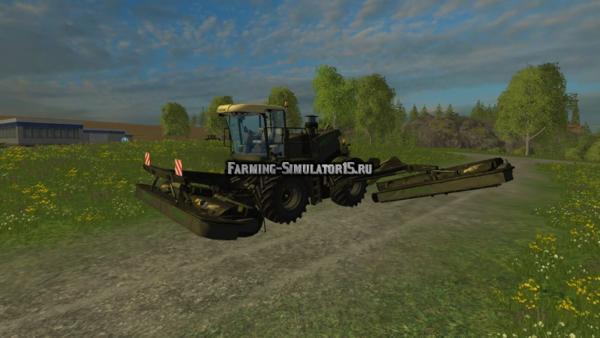 Мод косилка Krone BigM 500 Black v 1.2 для Farming Simulator 2015