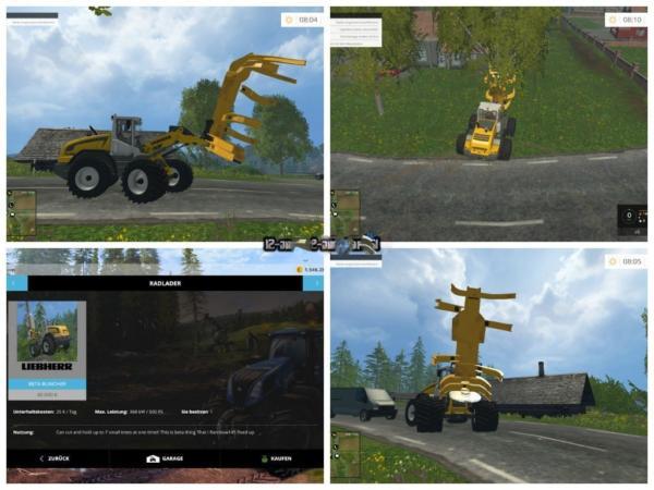 Мод погрузчик Liebherr Holzernter v 1.0 для Farming Simulator 2015