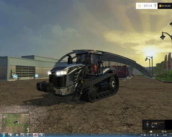 Мод трактор Cat Challenger MT875 v 1.3 для Farming Simulator 2015