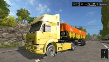 Мод тягач Камаз 5460 HIGH ROOF V1.0 для Farming Simulator 2015