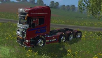Мод тягач SCANIA R560 8X4 для Farming Simulator 2015