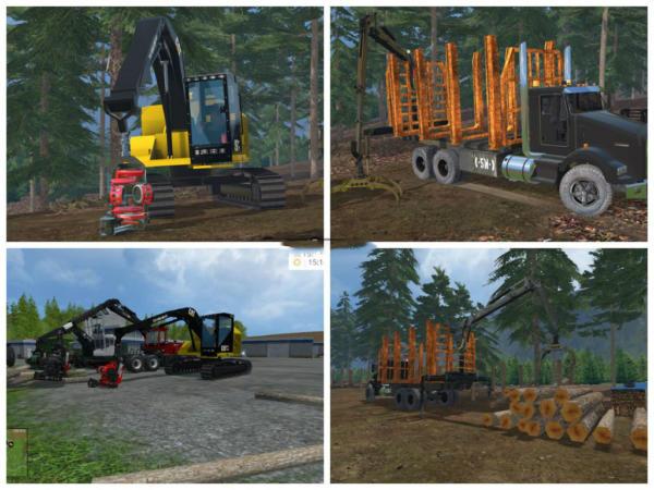 Мод ПАК Logging Pack v 2.0 для Farming Simulator 2015