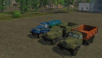 Мод ПАК грузовиков Зил 157 v 2.0 для Farming Simulator 2015