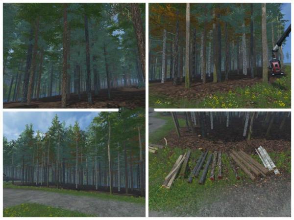 Мод ели Blue spruce Pack v 1.0 Placeable для Farming Simulator 2015