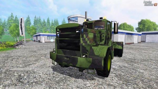 Мод грузовик Hayes HDX Camouflage v 1.0 для Farming Simulator 2015