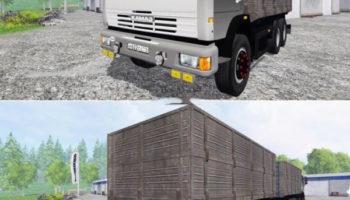 Мод грузовик КАМАЗ 45143 и прицеп Нефаз для Farming Simulator 2015