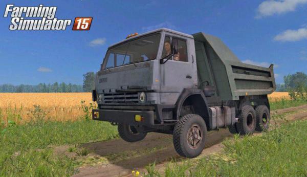 Мод грузовик Камаз 55111 by SP для Farming Simulator 2015