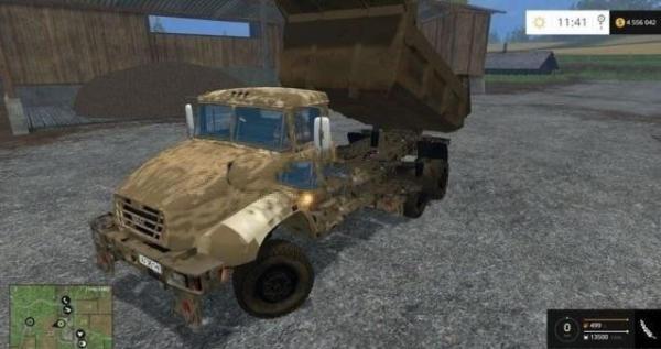 Мод грузовик Краз 18B v 1.0 для Farming Simulator 2015
