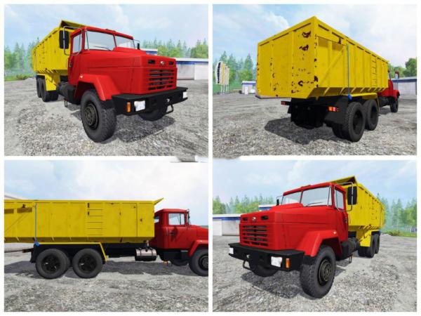 Мод грузовик Краз KrAZ 6130S4 v 1.0 для Farming Simulator 2015