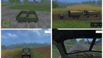 Мод грузовик с прицепом ЗИЛ-157 для Farming Simulator 2015