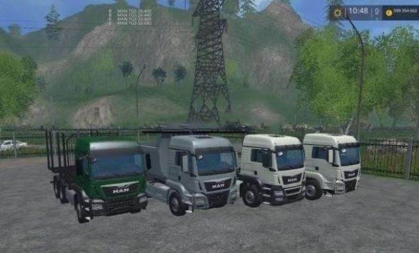 Мод грузовики MAN TGS для Farming Simulator 2015