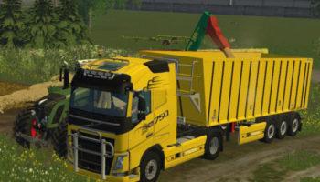 Мод грузовики и прицепы Volvo FH16 v 1.0 для Farming Simulator 2015