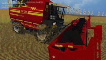 Мод комбайн Essil КЗС-760 для Farming Simulator 2015