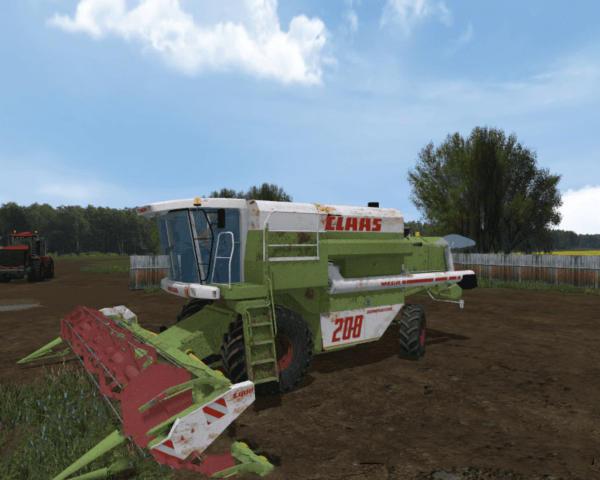 Мод комбайн MR СLAASMEGA 208 для Farming Simulator 2015