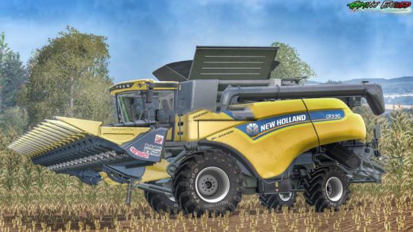 Мод комбайн New Holland CR9.90 40 v 1.2 для Farming Simulator 2015