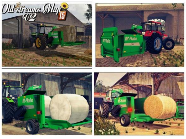 Мод кормораздатчики Straw Blower McHale c360 & C460 Pack для Farming Simulator 2015