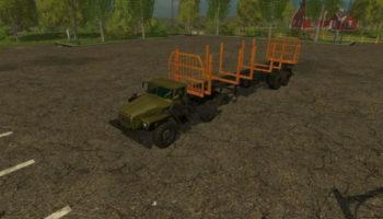 Мод полуприцеп лесовоз автопогрузка для Farming Simulator 2015