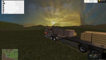Мод прицеп Fliegl Universal Semitrailer autoload для Farming Simulator 2015