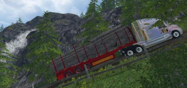 Мод прицеп PVLogrunner v 1.5 Автопогрузка для Farming Simulator 2015