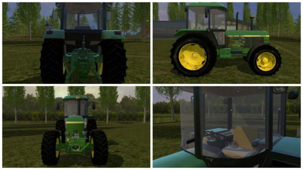 Мод трактор JOHN DEERE 3050 для Farming Simulator 2015