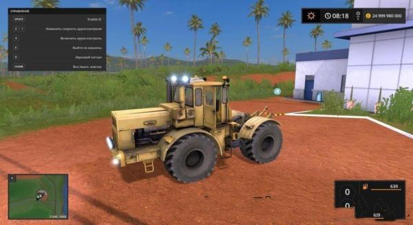 Мод трактор Кировец К-700А V1.1 для Farming Simulator 2015