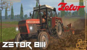 Мод трактор Zetor 8111 для Farming Simulator 2015
