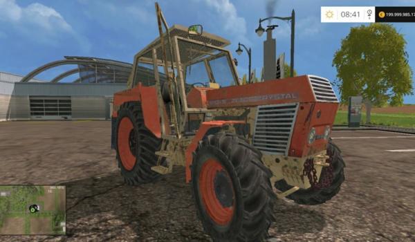 Мод трактор Zetor Crystal 8045 для Farming Simulator 2015