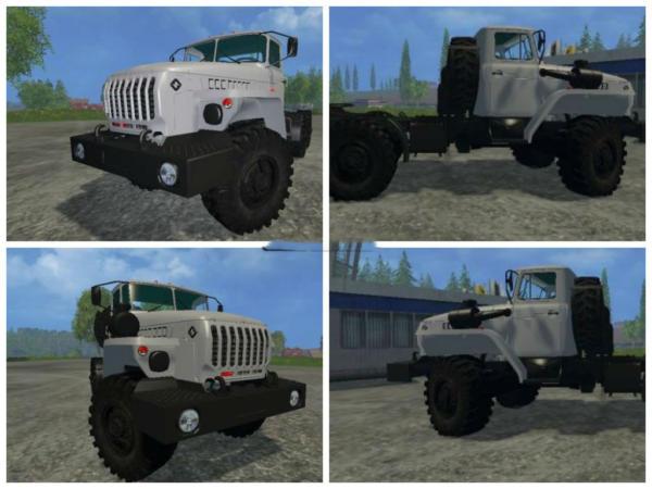 Мод тягач УРАЛ 44202-0311-72М v 1.0 для Farming Simulator 2015