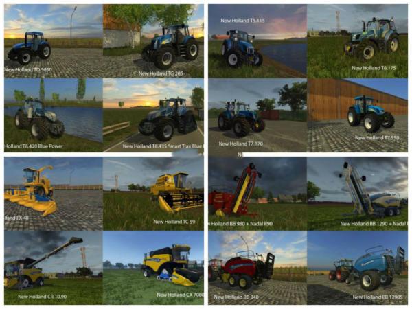 Мод Big mods pack v 16 new holland pack для Farming Simulator 2015