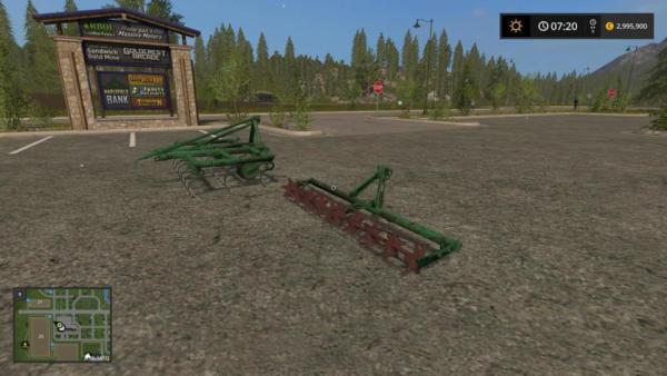 Мод культиватор GRUDZIADZ 2.7M V1.0 для Farming Simulator 2015