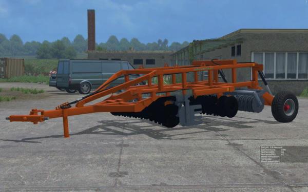 Мод культиватор Laumetris heavy disc harrow LLA – 3 v 1.0 для Farming Simulator 2015