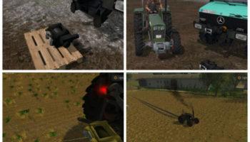 Мод лебедка Mounted winch V 1.0 Beta для Farming Simulator 2015