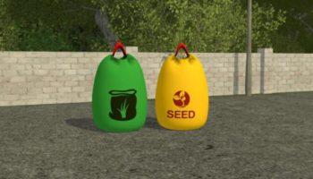 Мод мешки BIG BAGS FERTILIZER & SEEDS для Farming Simulator 2015