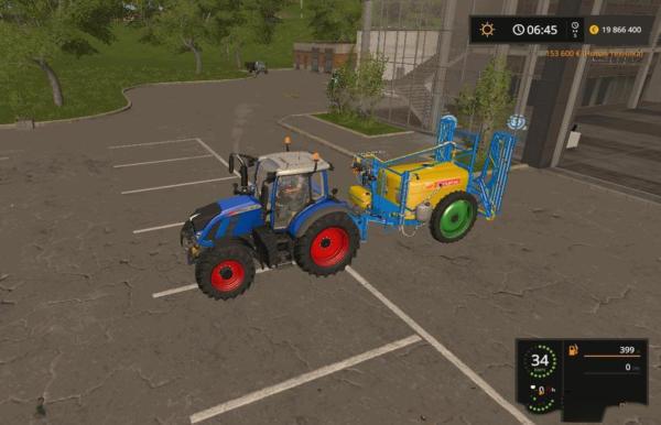 Мод опрыскиватель ЗАРЯ ОПГ 2500-24-04Ф V1.1 для Farming Simulator 2015