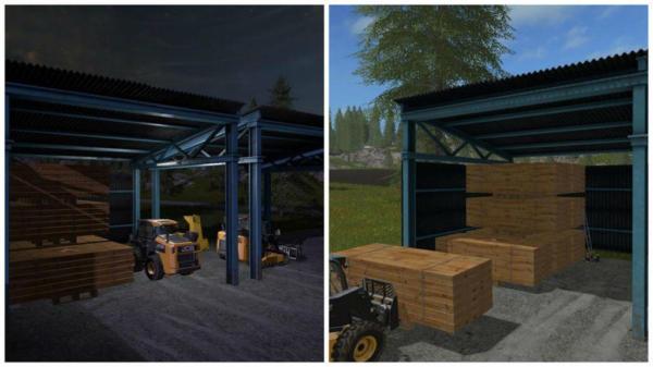 Мод сарай с досками PLANK SALES V1.0 для Farming Simulator 2015