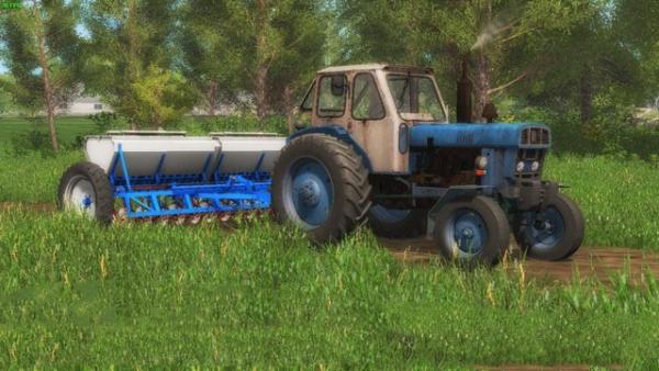 Мод сеялка АСТРА СЗТ 3.6А + СЦЕПКА V 3.0 для Farming Simulator 2015