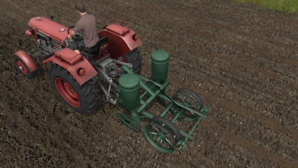 Мод сеялка CLASSIC 2 ROW PLANTER V1.0 для Farming Simulator 2015