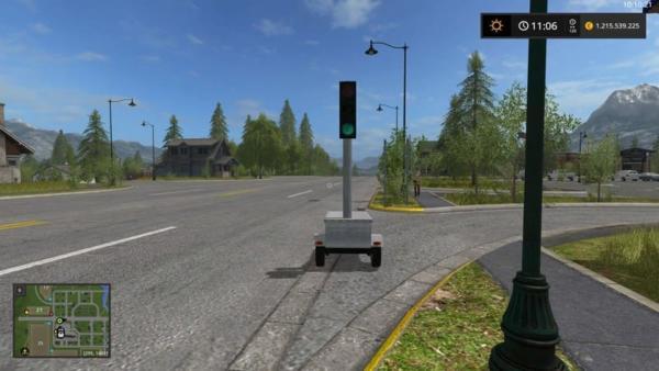 Мод светофор MOBILE TRAFFIC LIGHT V1.0 для Farming Simulator 2015