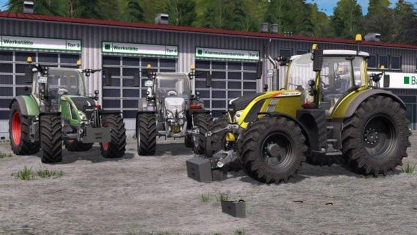 Мод трактор FENDT 700 VARIO SCR MR V1.1 для Farming Simulator 2015