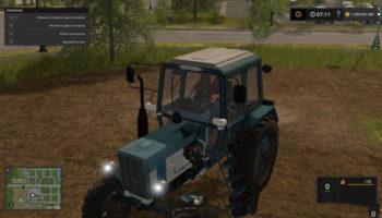 Мод трактор МТЗ-82 V1.0 для Farming Simulator 2015