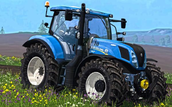 Мод трактор New Holland T7.240 v 2.1 для Farming Simulator 2015