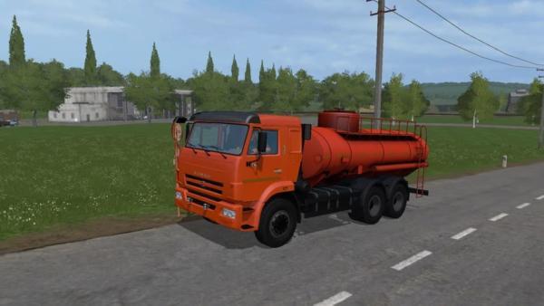 Мод КАМАЗ-45144 БЕНЗОВОЗ V1.1 для Farming Simulator 2015