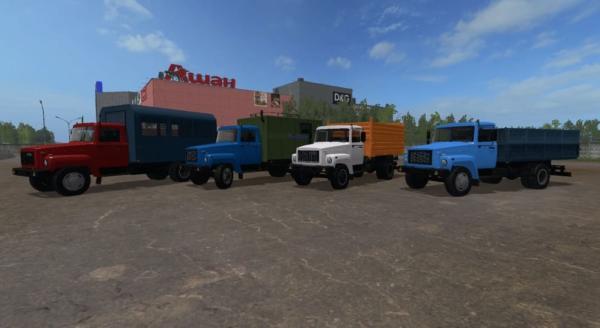Мод ПАК ГАЗ-3307-3309 v2.0 для Farming Simulator 2015
