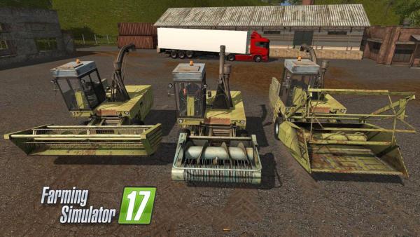 Мод ПАК комбайн Fortschritt E-281 V1.3 для Farming Simulator 2015