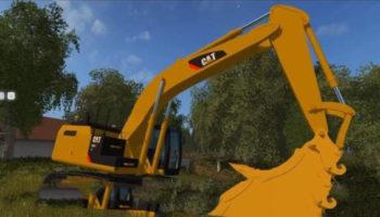 Мод экскаватор CATERPILLAR 329E V1.0 для Farming Simulator 2015