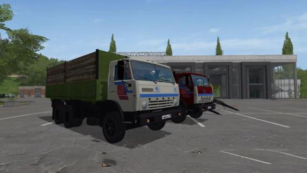 Мод грузовик КАМАЗ-55102 V1.2 для Farming Simulator 2015