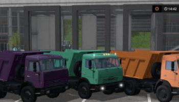 Мод грузовик КАМАЗ 65115 EURO2 V1.0 для Farming Simulator 2015